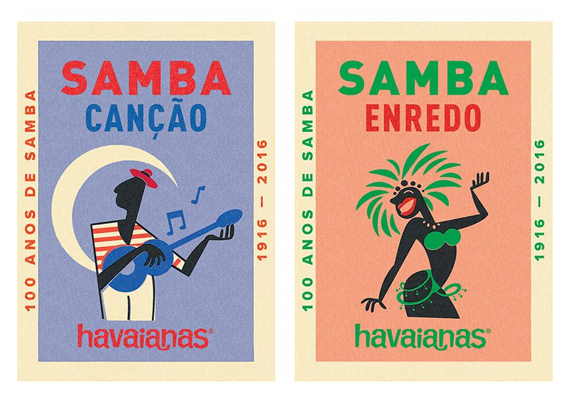 Gráfica y packaging: Johann Vernizzi y Havaianas homenajean la samba brasileña