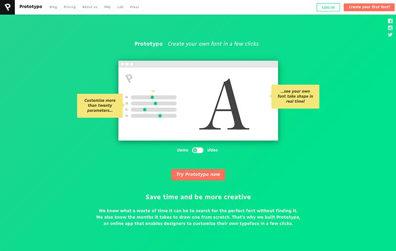 Prototypo, el primer software de creación de fuentes en tiempo real