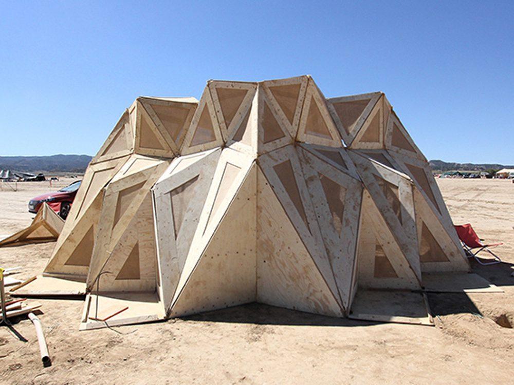 Nomad, el pabellón nómada de IAAC. Fabricación digital con materiales naturales