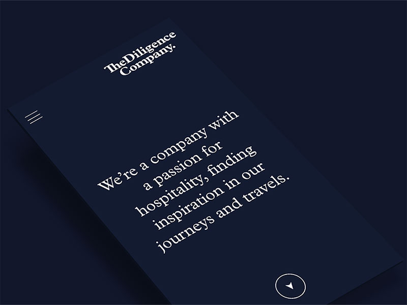 The Diligence Company, de Anagrama. Branding, UI Design, Development…