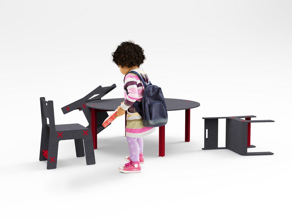 Mini Off, colección de mobiliario infantil con absorción acústica de BE Estudio