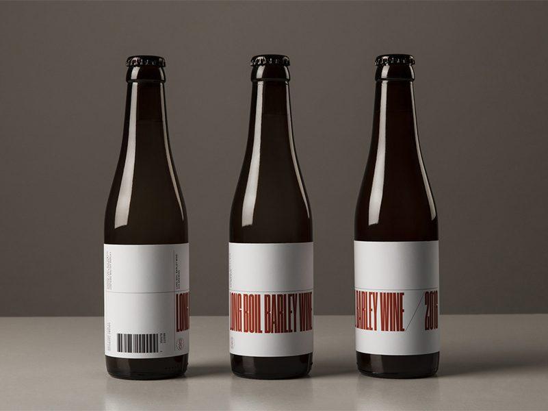 Long Boil Barley Wine, branding de Lundgren+Lindqvist