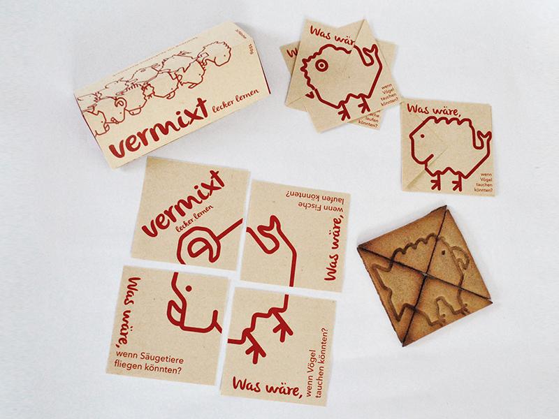 Vermixt, de Dominique Tetzner. La galleta como soporte para la comunicación