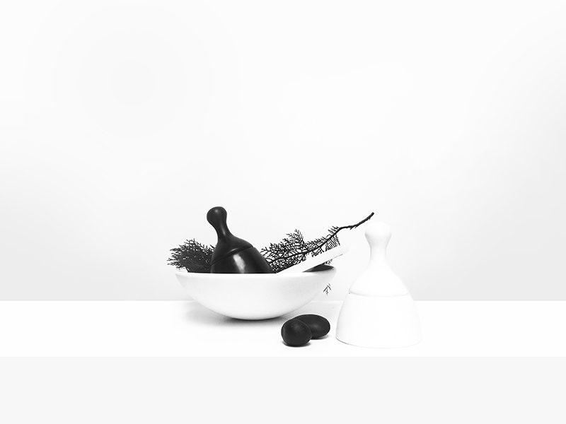 Alfil, mortero y pistilo creados por el estudio Tu Taller Design