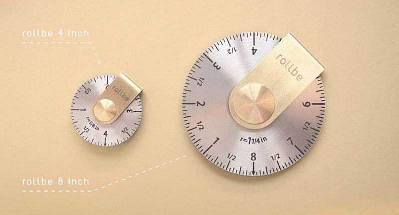 Rollbe, herramienta de medición compacta diseñada por The Work of Mind