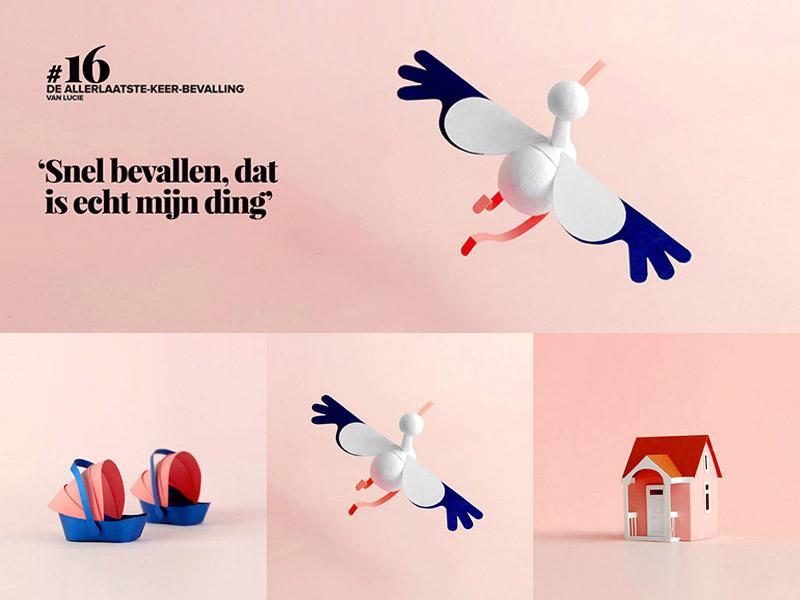 Las ilustraciones de Anne van den Berg para Ouders van Nu