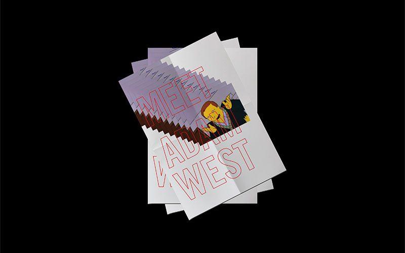 Un homenaje al Batman de Adam West, por el diseñador Nate Tilghman