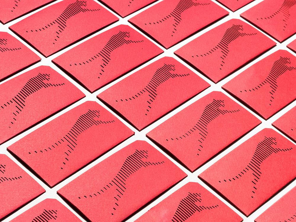 Identidad visual de Red Cat Motion: el movimiento aplicado a piezas de papelería