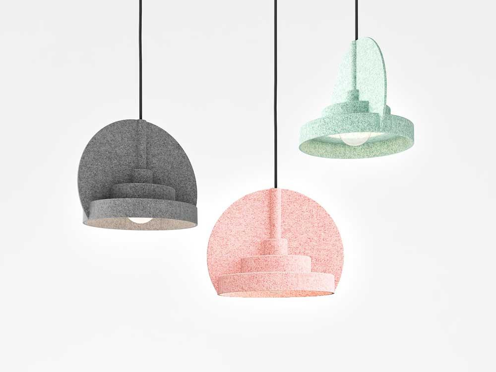 Pata Lamps, lámparas de fieltro ideadas por el estudio Ideadeya