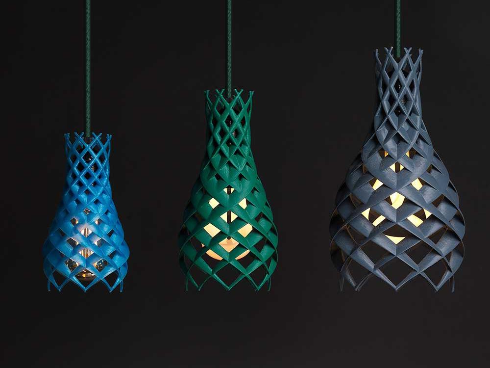 Ruche, impresión 3D en la colección de luminarias de Plumen