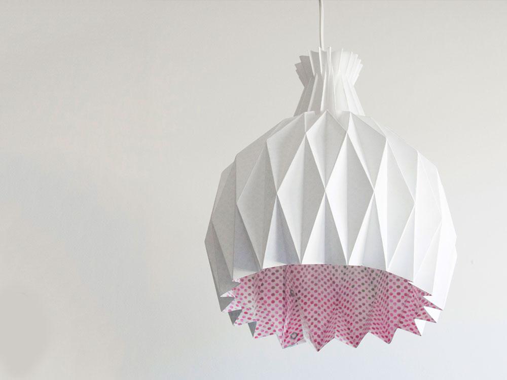 Shiro, origami y ecodiseño en las luminarias de Metrocuadrado Design