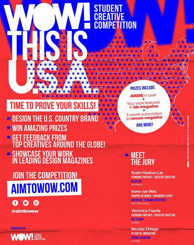 Wow! Invita a diseñar un nuevo concepto para Estados Unidos