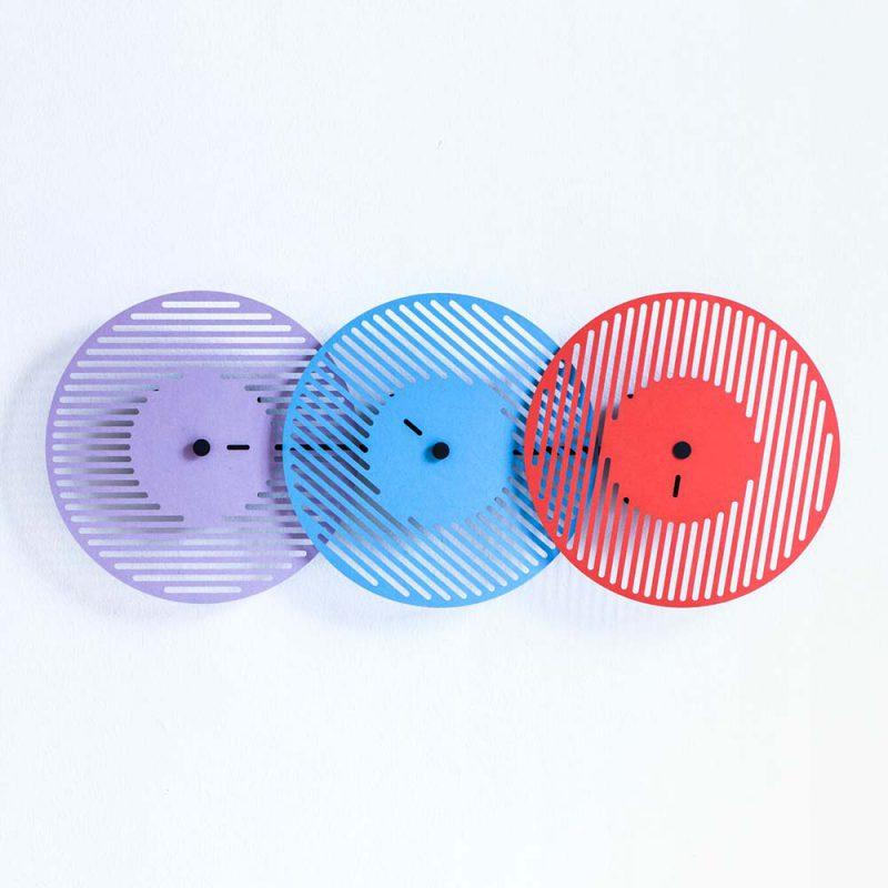 Graphic Time, relojes abstractos de Raw Color para Vij5