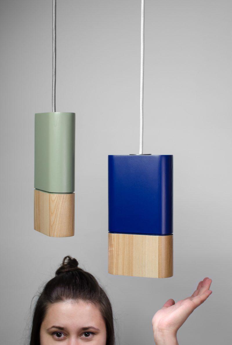BW1, lámpara de suspensión de Kononenko ID para Beton Wood