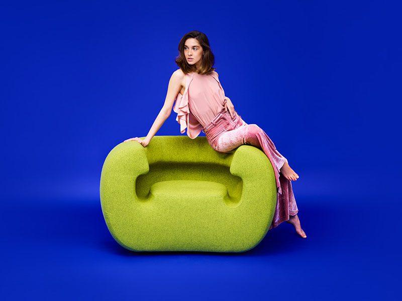 Roxanne, el sillón ergonómico de Michael Young para Gufram