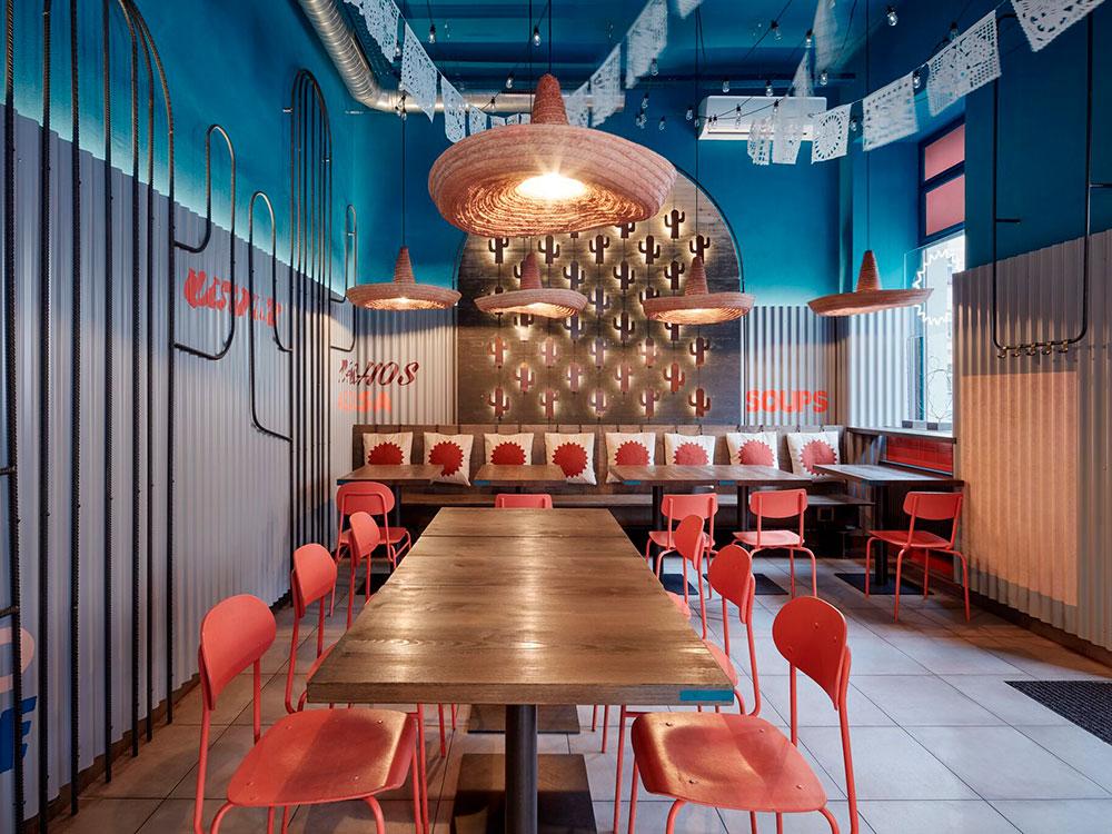 Burrito Loco, diseño interior de Formafatal. Inspiración mexicana