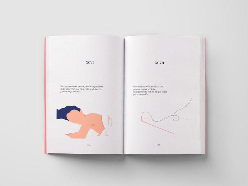Mira el cielo, no el reloj, diseño editorial de Azul Recreo™