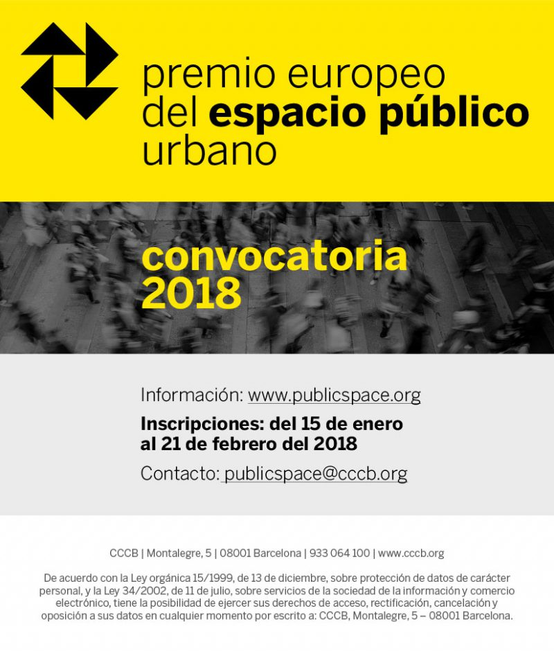 Premio Europeo del Espacio Público Urbano 2018