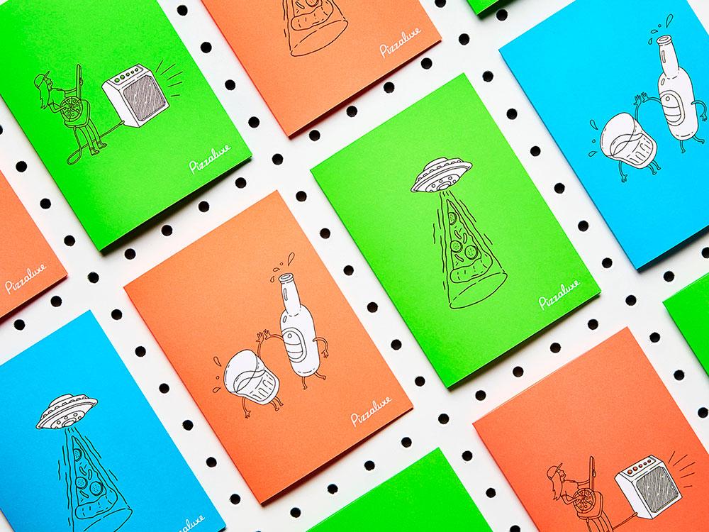 Touch diseña la imagen corporativa de Pizzaluxe. Inspiración street food
