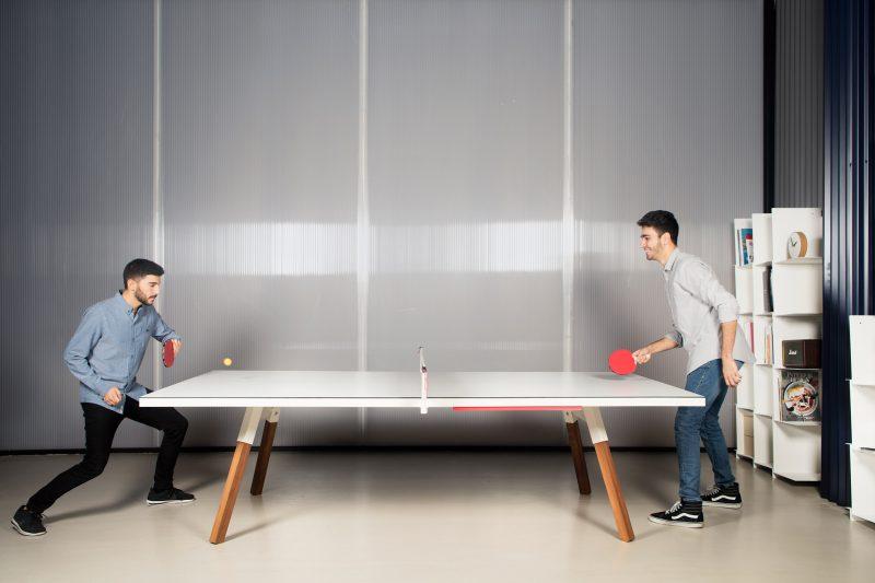You and Me, la mesa de ping-pong versátil de Antoni Pallejà Office