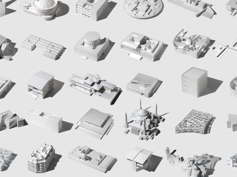 Memorias de Arquitectura, de Fumio Matsumoto: 35 iconos de la arquitectura en un modelo tridimensional