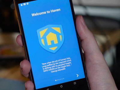 La aplicación de seguridad Haven de Edward Snowden, 2017