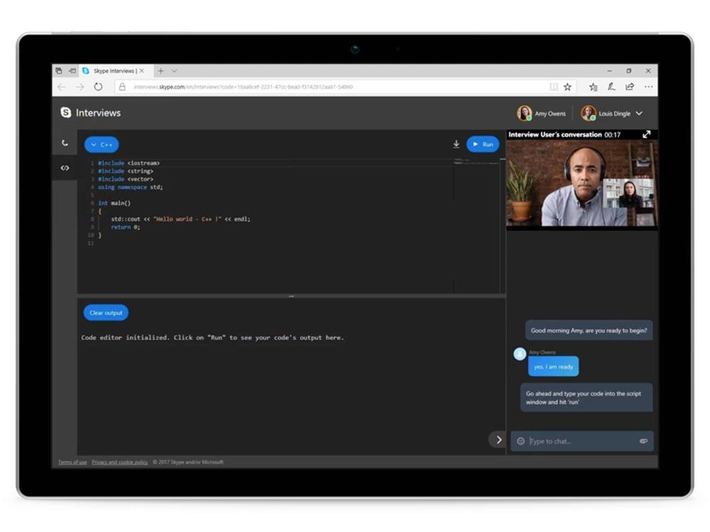 Skype lanza un editor de código en tiempo real para entrevistas técnicas