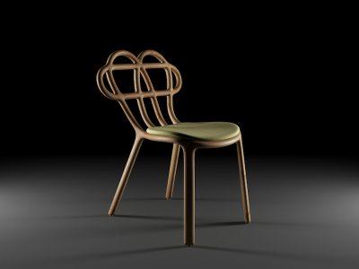 Wilds Chair, curvas orgánicas en la silla de TsarukAhmadova