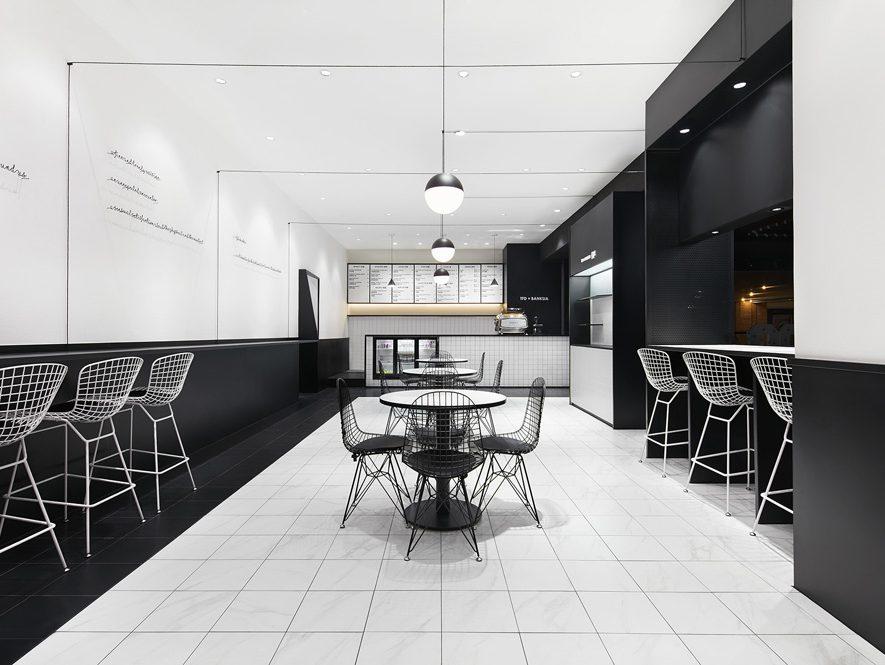 TFD Restaurant, de Leaping Creative. Gastronomía en blanco y negro
