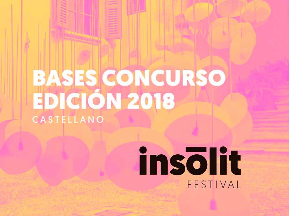 Arte, diseño y arquitectura, el concurso del festival Insòlit 2018