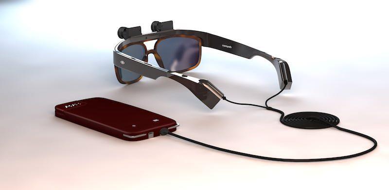 Eyesynth, gafas con diseño de Alegre Design para ver a través del oído