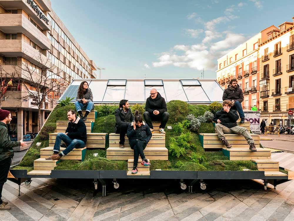 Instalaciones urbanas para celebrar el Madrid Design Festival