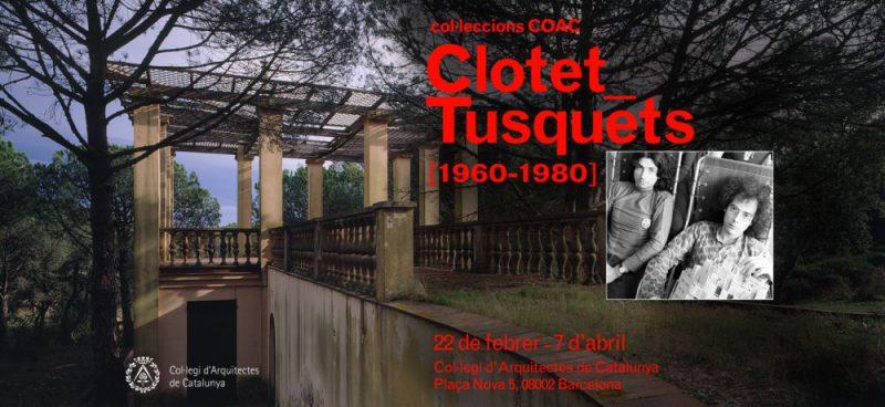 La sede barcelonesa del COAC acoge la exposición Clotet_ Tusquets hasta el 7 de abril.