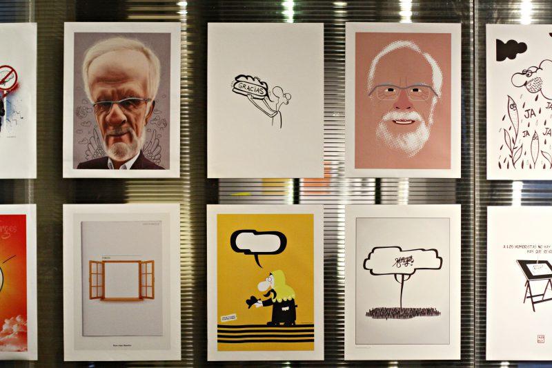 """La Central de Diseño de Matadero Madrid acoge hasta el 6 de abril la exposición """"Homenaje a Forges""""."""