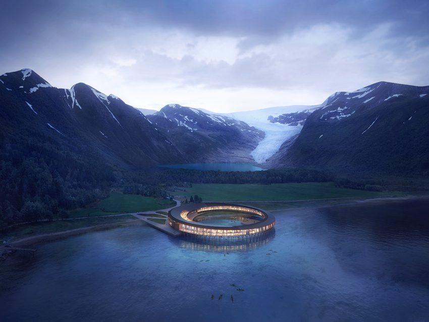 """Svart Hotel de Snøhetta, el primer edificio """"energéticamente positivo"""" del círculo polar ártico"""