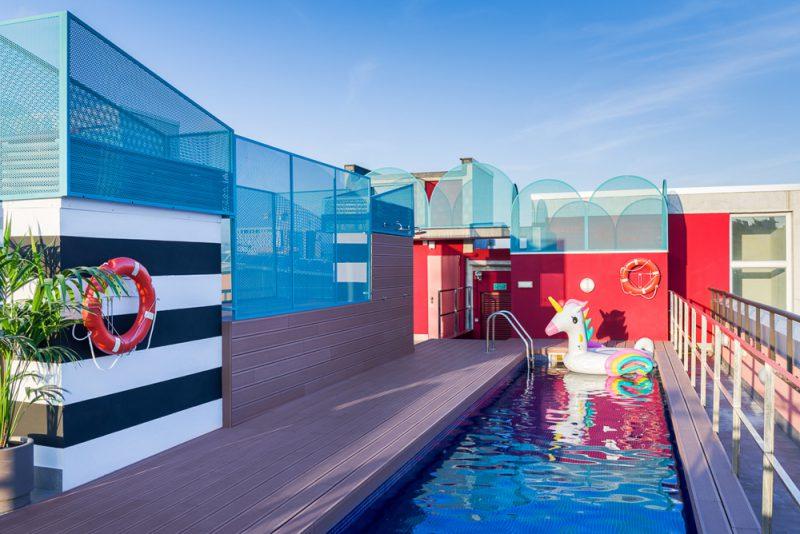 Masquespacio diseña el Marina Campus de The Student Hotel en Barcelona. Fotografía: Luis Beltrán.