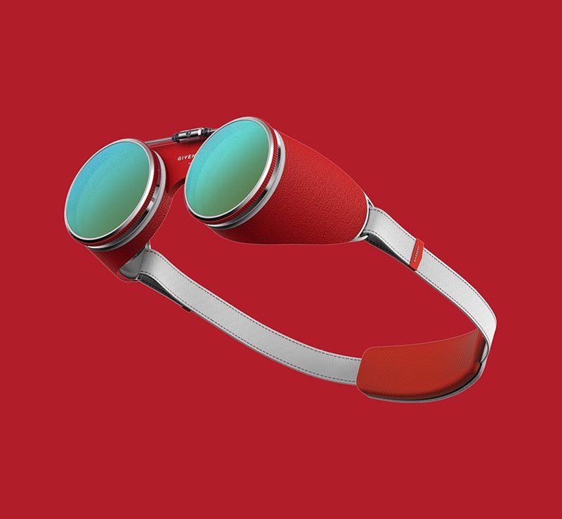 Gafas de realidad virtual y aumentada ideadas por PDF HAUS para Givenchy
