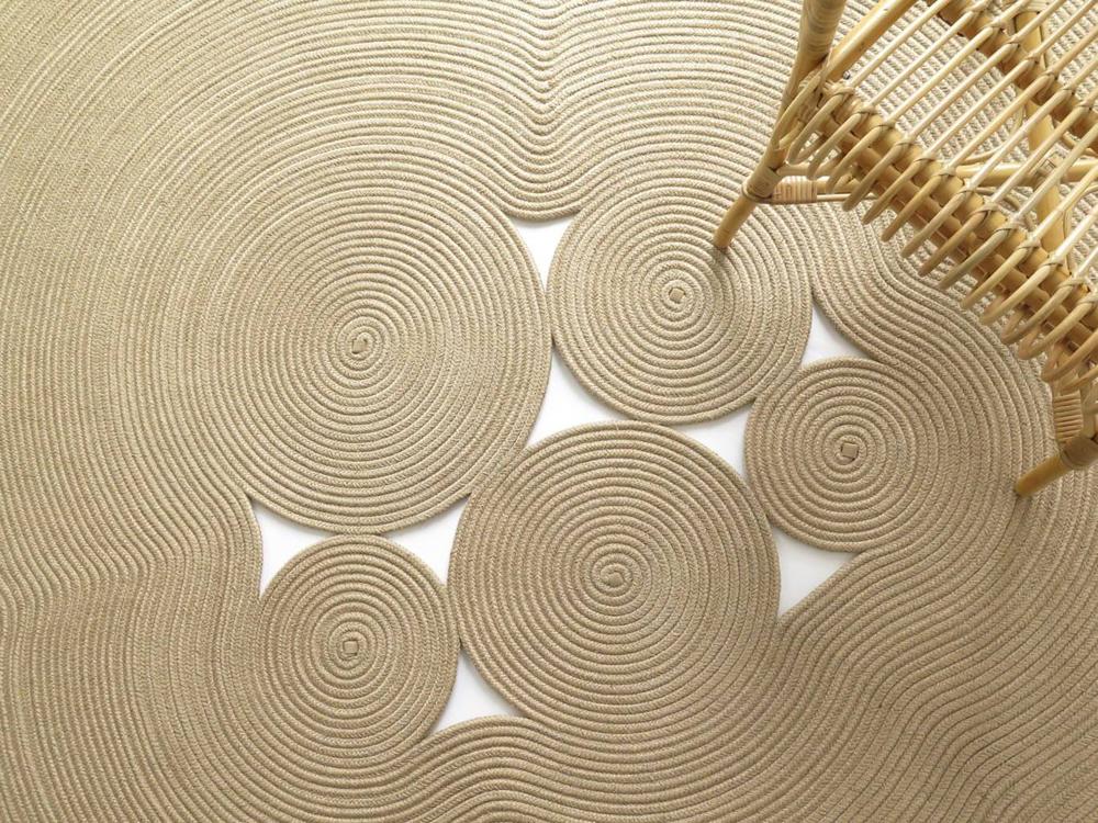 Magma Yute, colección de alfombras de Martín Azua. Inspiración zen