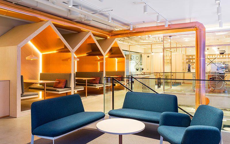 Paulig Kulma. Bond diseña un local dedicado enteramente al café