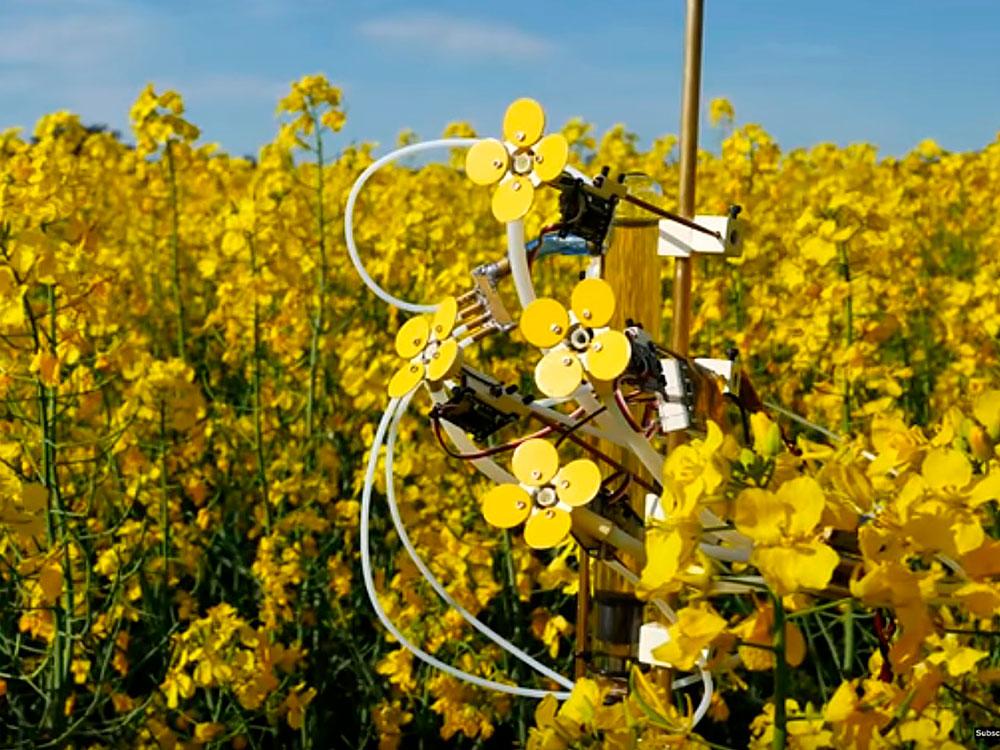 Synthetic Pollenizer, de Michael Candy. Flores cibernéticas 3D contra los pesticidas