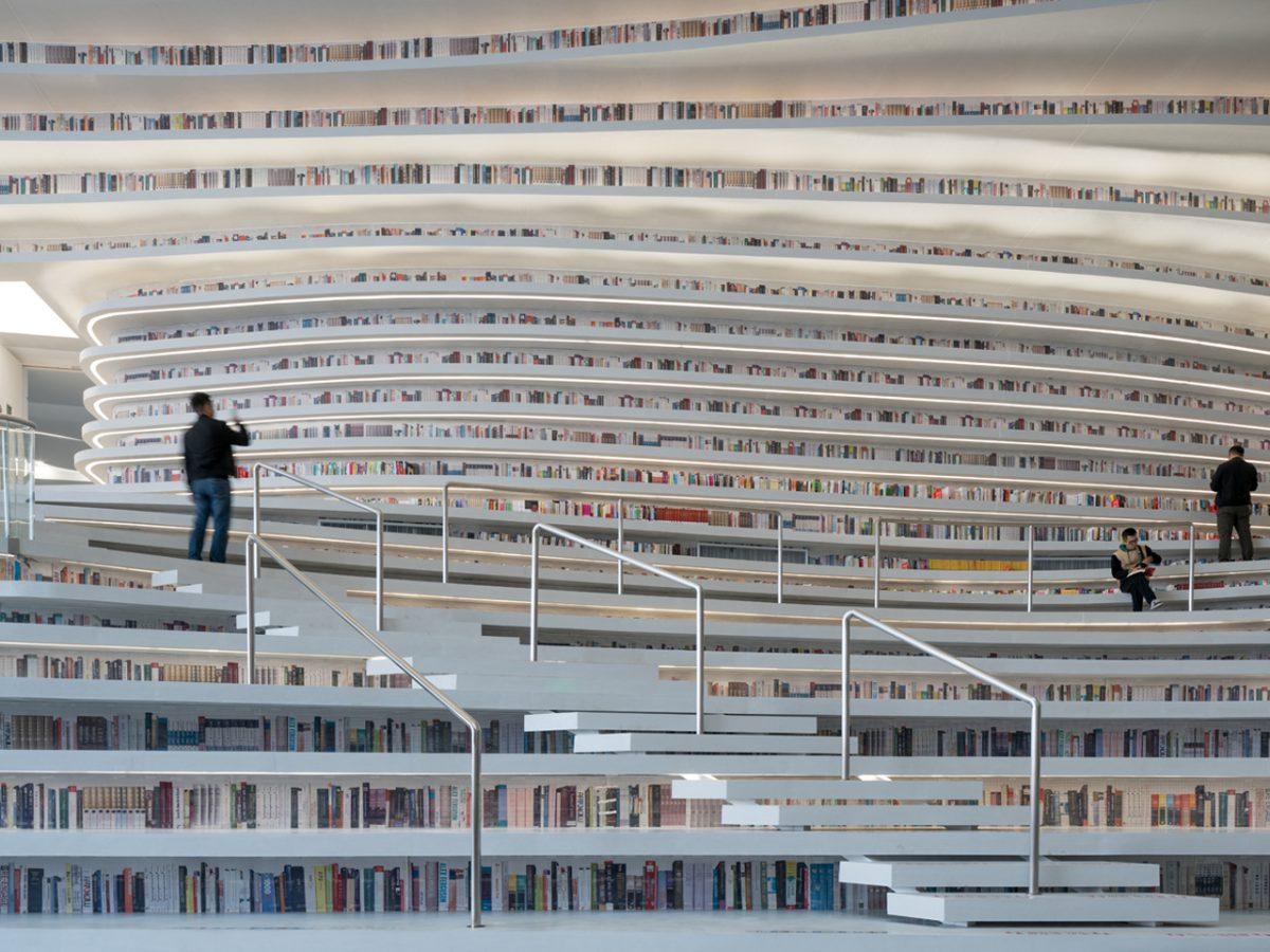 Tianjin Binhai Library, la biblioteca envolvente de MVRDV en China