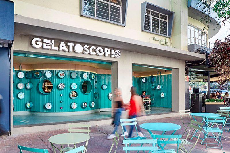 Gelatoscopio, la utópica heladería de Esrawe Studio