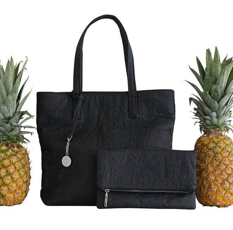 Piñatex, cuero vegetal de fibra de piña en los productos de Ananas Anam