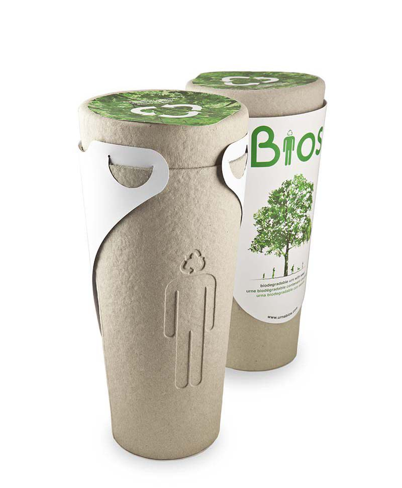 Bios, la urna funeraria de Estudi Moliné para convertir las cenizas en un árbol