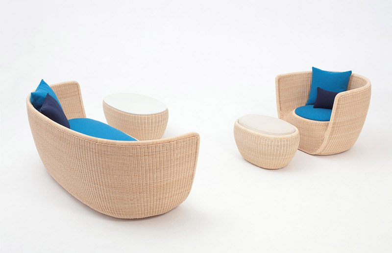 Diseño en ratán en las colecciones de mobiliario de Yamakawa Rattan