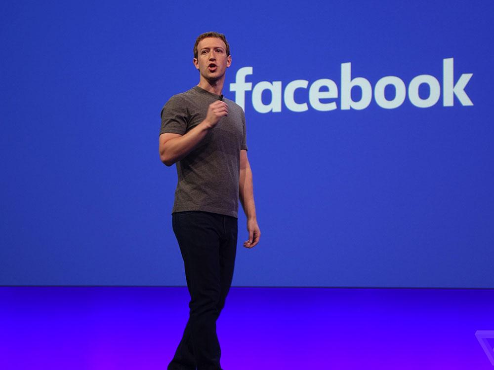 Mark Zuckerberg en la Conferencia Anual de Desarrolladores de Facebook, F8