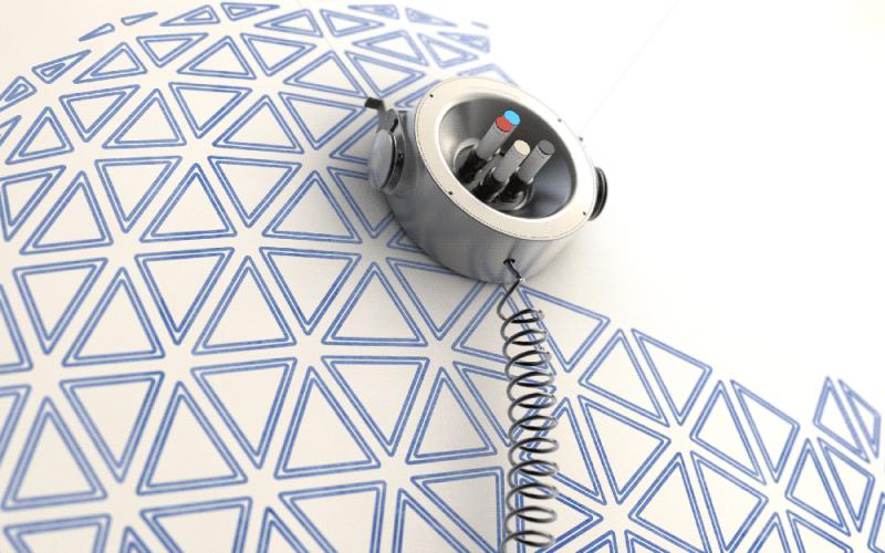 Scribit, el robot de escritura inteligente de Carlo Ratti Associati