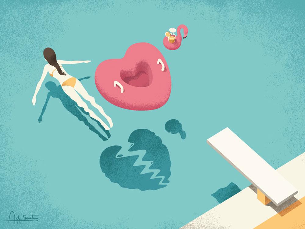 Las ilustraciones estivales de Andrea de Santis