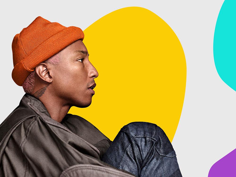 Los fans de Pharrell Williams protagonizan el diseño de su nuevo sitio web