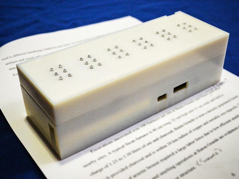 Tactile, de texto impreso a Braille. El conversor en tiempo real diseñado por el MIT